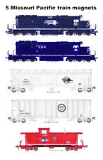 Missouri Pacific Grain Train 5 magnets by Andy Fletcher