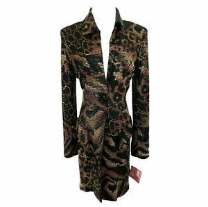 VTG JANINE Python Platelets 1-Button Tailored Long Jacket S/6 $1895 NWT TTCB