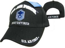 U.S. Air Force MSGT Retired Black USAF Embroidered Ball Cap Hat 540B TOPW