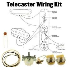 Telecaster Wiring Kit CTS 250K CRL Switch .033 Cloth Wire Switchcraft Jack