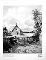 Original Old Vintage Print Cottage In A Cornfield By John Constable 1926 20th