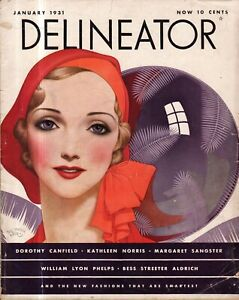 1931 Delineator January - Edna St Vincent Millay; Never too late to live; Norris