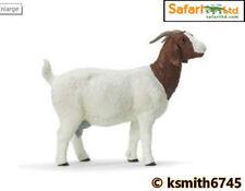Safari BIG NANNY GOAT solid plastic toy farm pet brown & white animal * NEW *💥