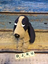 More details for nwt applause hush puppies basset navy blue special edition bean bag plush dog