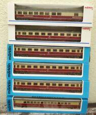 Märklin 4294,3 x 4295, 4296,4298   6 Stück TEE-IC-EC-Wagen DB Epoche 4 mit Licht