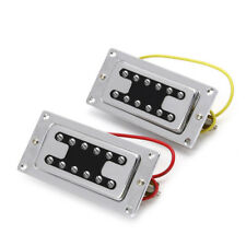 Hot 1Pair Humbucker Bridge With Neck Pickups For Rickenbacker Bass Guitar Parts
