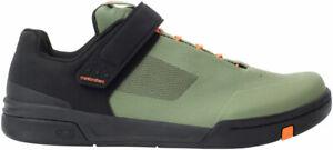 Crank Brothers Stamp SpeedLace Men's Flat Shoe - Green/Orange/Black, Size 10.5