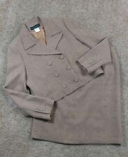 HARVE BENARD Size 14 Lined Skirt Suit 2PC Brown Pencil Ukraine Career Church EUC