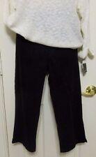 Lauren Jean Co Womens 8 Black Brushed Cotton Capris NWT