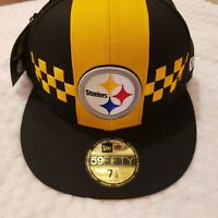New Era Pittsburgh Steelers 59Fifty NFL Draft 2019 Black/Yellow Hat Cap Sz 7 1/4