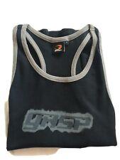 Mens Gasp Ribbed T-back Grey  Black, Muscle/ Stringer/ T Back Top. Large