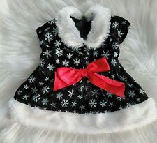 Holiday Time Christmas Black Velvet Snowflake Dress for Dog, Size M