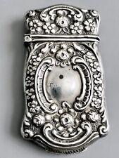 Victorian Sterling Silver Vesta Case / Match Safe