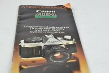 Canon AE-1 Camera Instruction Manual English Canon 1981 AC (048)
