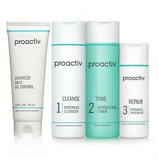 Proactiv 4 piece 60 Day Kit + 2.5 oz Advanced Daily Oil Control. @