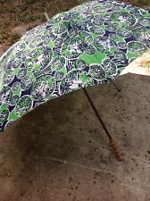 Vintage RARE Lilly Pulitzer Men's Shop Fabric Lion Umbrella