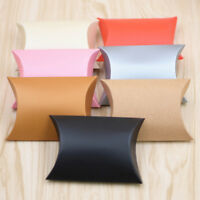 50pcs craft paper bags pillow box gift cake bread candy wedding party favor JE#