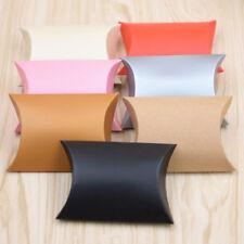 50 un. bolsas de papel del arte Almohada Caja Regalo Pastel Pan Dulces Boda Fiesta Sorpresa Jp