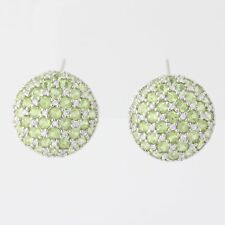 NEW Peridot & Cubic Zirconia Earrings - Sterling Silver August Birthstone