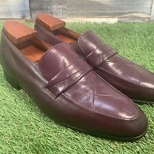 UK9.5 Grenson Footmaster Apron Toe Leather Loafers - Slip On Designer Shoes 43.5