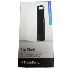 OEM NEW Blackberry Z10 BB10 NFC White Flip Shell Case Cover with Stand GENUINE