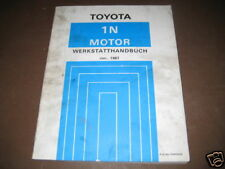 Werkstatthandbuch Toyota Starlet Motor 1 N, Stand 01/1987