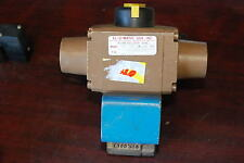 "El-O-Matic Pneumatic Actuator Sr-1.5, 1/4"" Brass Valve, 120V coil, New no box"
