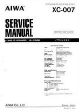 AIWA XC-007 XC 007 - SERVICE MANUAL - CD PLAYER - via email -  pdf format