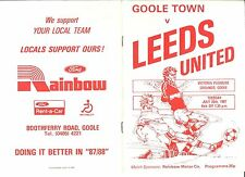 Goole Town v Leeds United  Tuesday 28th July 1987