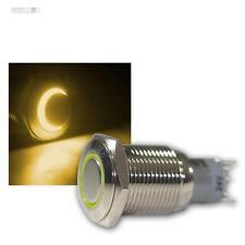Interruttore in metallo con illuminazione led giallo, max. 230V/3A,
