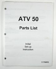 Manco ATV 50 Parts List Manual with Initial Set-Up Instruction 11766R3