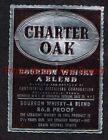 1940s PENNSYLVANIA Philadelphia Continental Charter Oak 86.8 Proof Whiskey Label