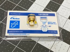 Nordson Dual Bead 30° Right Angle Glue Nozzle 1015920 13mm hex Saturn (NEW)