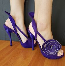 Shoes Zapatos Woman Georgina Goodman Purple Fashion Pump Unique Heels