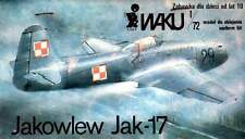 "Yakovlev YAK-17 ""pluma"" (soviética, checoslovaca y polaca af marcas) 1/72 Obr"