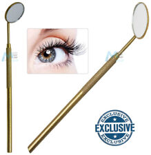 Eyelash Inspection Mirror - Beauty Lash Extension Application Tool Glitter GOLD