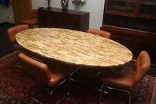 Table Plateau oval en LATTES D'AGATES Florence KNOLL 1970