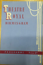 1949 Theatre Royal Birmingham Programme: The Covent Garden Opera - LA BOHEME
