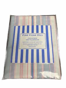 Pine Cone Hill NEW Pink Blue Cape Stripe Euro Sham SCCDSHE