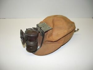 Antique Miners Cap / Hat and Auto-Lite Carbide Lamp~ MUST SEE~ No-Reserve