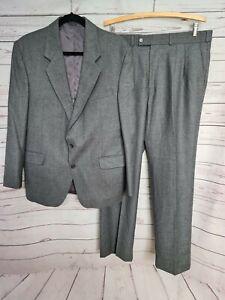 STAFFORD ELLISON mens 100% wool designer suit grey jacket size 107 pants size 94