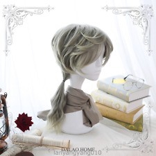 Cosplay Men Gay Harajuku Gradient Curly Hair Full Wig Hairpiece Everyday