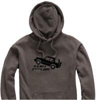 """Unisex Hoody Hoodie Land Rover Discovery """"It is Not a F*****g JEEP""""  Logo"""