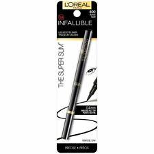 (3) L'Oreal Infallible Los Super Slim Delineador Líquido, 400 Negro
