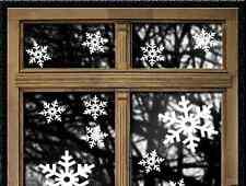 30 x Schneeflocken Wandtattoo Winter Weihnachten deko Fensteraufkleber Sticker