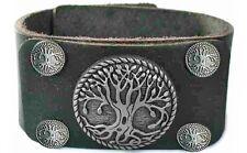 Leder Armband breit Baum des Lebens ca. 22 cm schwarz gothic Magie Esoterik