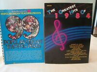 Lot of 2  ORGAN Sheet Music Songbooks Teaching Pieces Greatest Hits of 1984