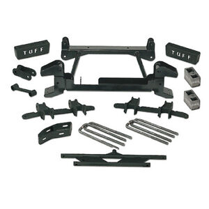 "88-97 GM 2500/3500 4WD 8 LUG TUFF COUNTRY EZ-RIDE 4"" LIFT KIT WITH REAR SPRINGS."