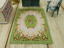 Beautiful Light Green French Dollhouse Decor Miniature Rug 1:12
