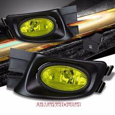 Yellow Amber Len Front Fog Light Lamp w/Bezel+Bulb+Switch For 03-05 Accord 4DR